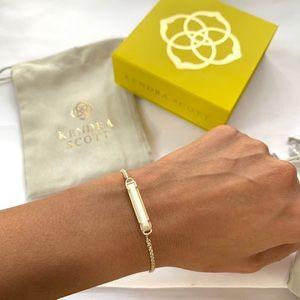 NWT Kendra Scott 14k gold plt mother prl bracelet